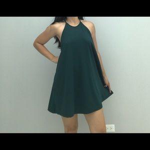 Zara Trafaluc Emerald Green Racerback Dress